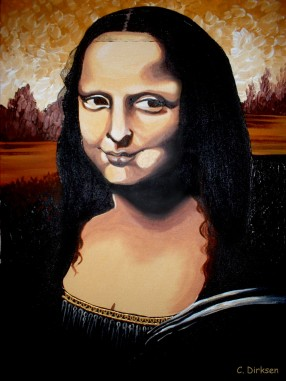 Mona Lisa grin