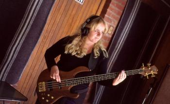 Cherie playing Bass