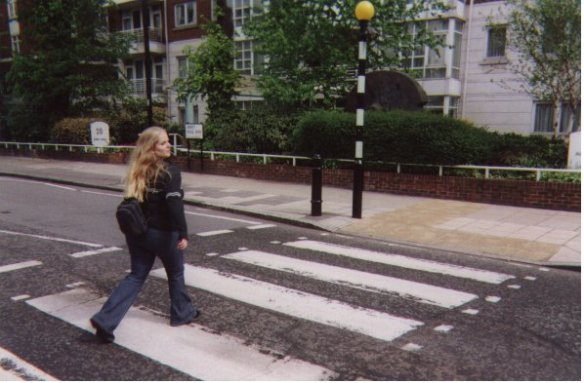 Crossing Abbey Road London
