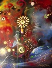 Escapism - Rock Art Painted to Radiohead by Cherie Roe Dirksen