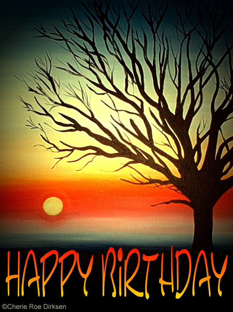 Tree Silhouette - Happy Birthday
