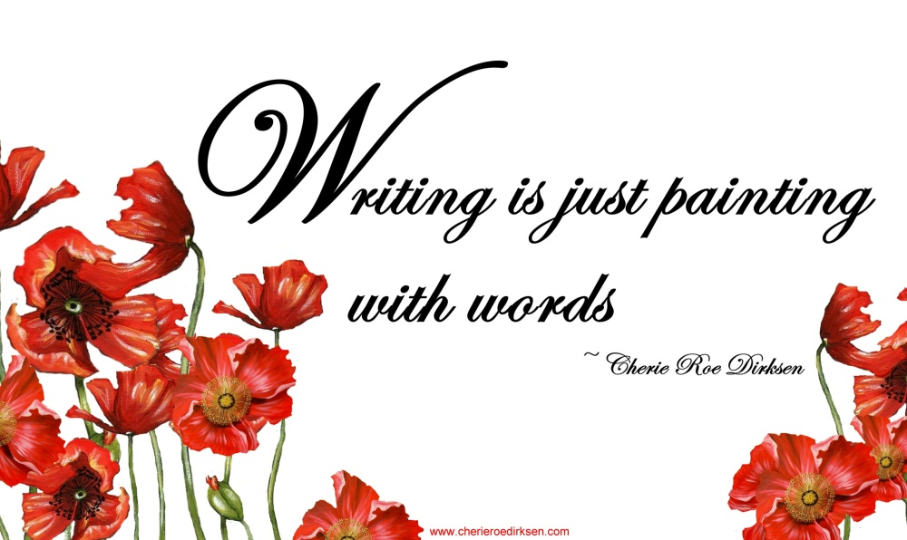 Writing is painting with words quotation