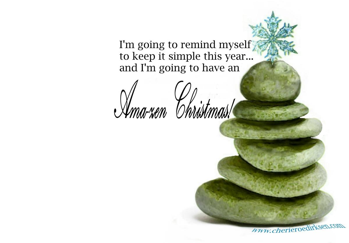 Zen Christmas Wallpaper