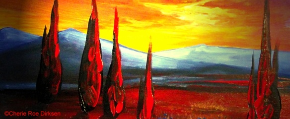 blog header red landscape