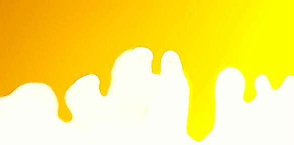 dripping yellow paint