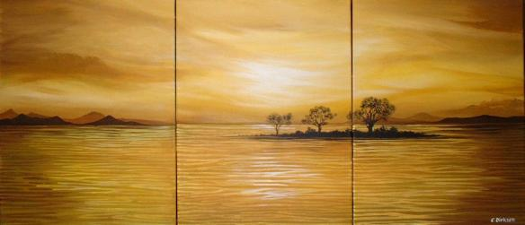 Yellow Sunset Triptych