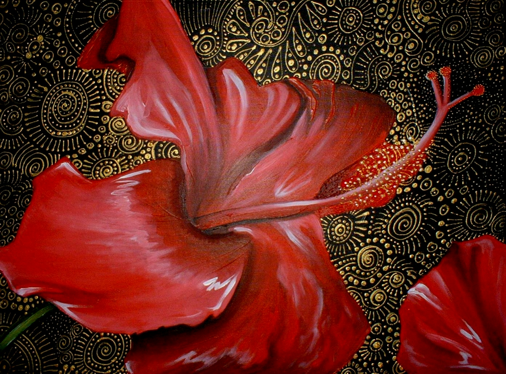 Red Hibiscus by Cherie Roe Dirksen lr
