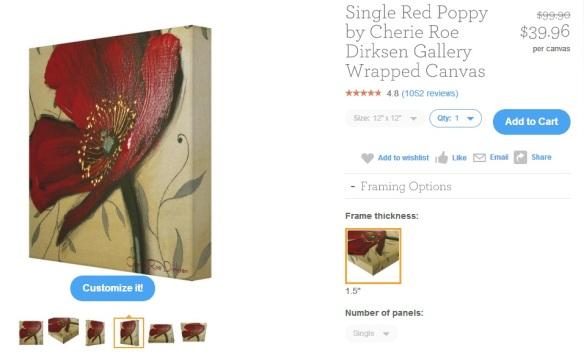 Red Poppy Block
