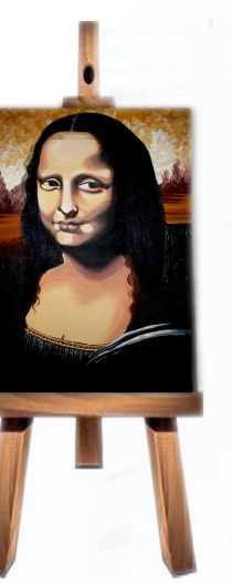 Mona on Easel