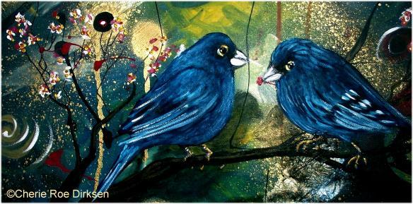 Bluebirds by Cherie Roe Dirksen
