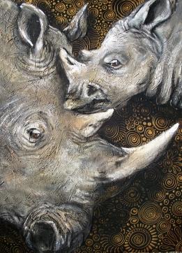 Rhinos by Cherie Roe Dirksen