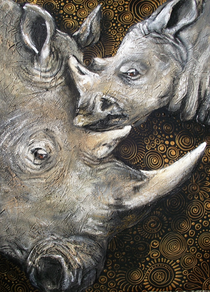 Rhino's - The Spiral of Life by Cherie Roe Dirksen