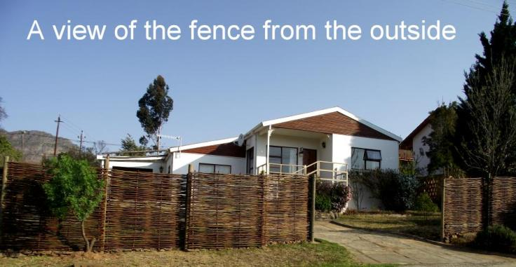 Fence from outside