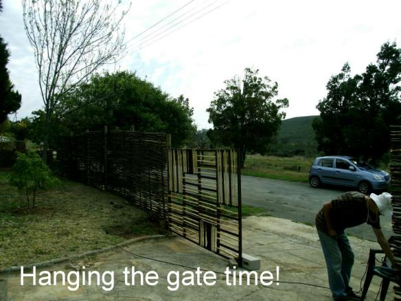 Hanging the gate
