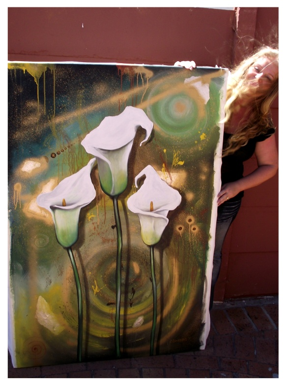 cherie with lilies - size orientation