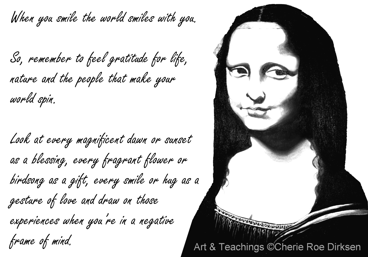 essay on mona lisa smile This process is beautifully portrayed in mona lisa smile the film is about katherine watson, a college lecturer from liberal-minded california.