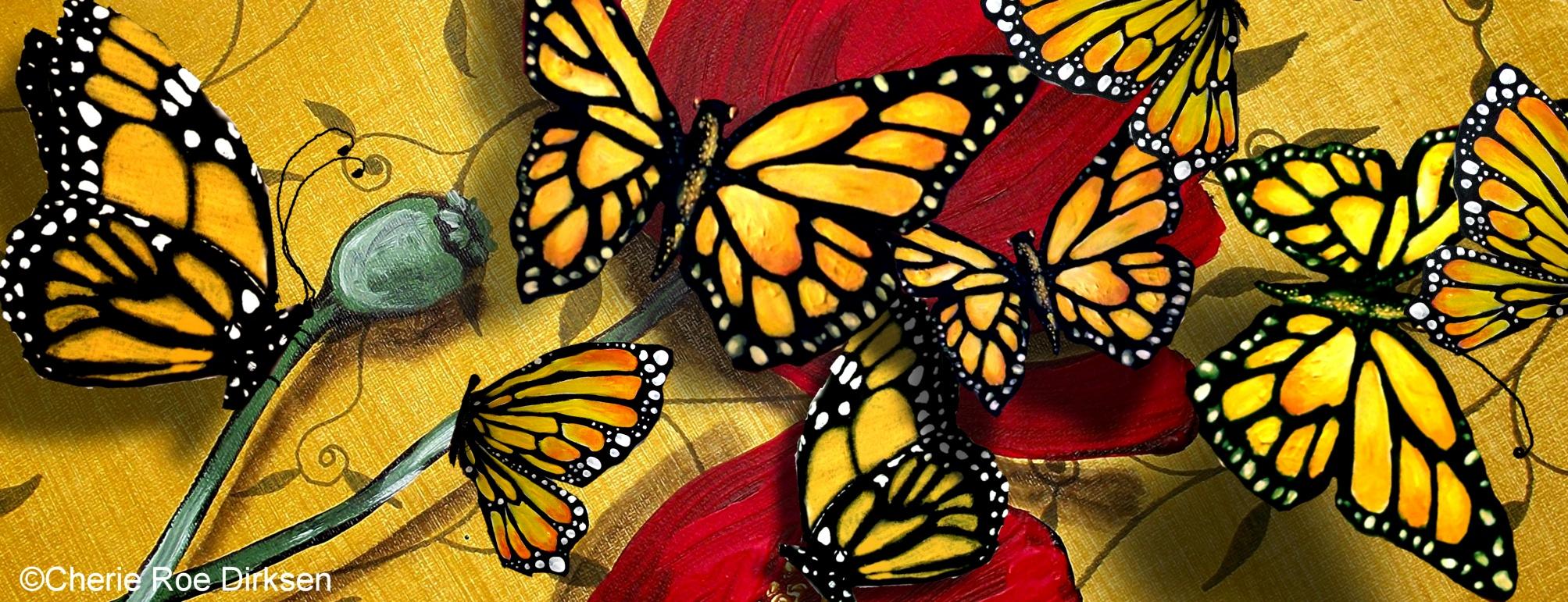 Monarch Butterfly Collage by Cherie Roe Dirksen
