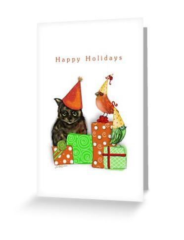 Cat Christmas Card 1