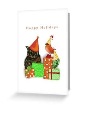 Cat Christmas Card 1