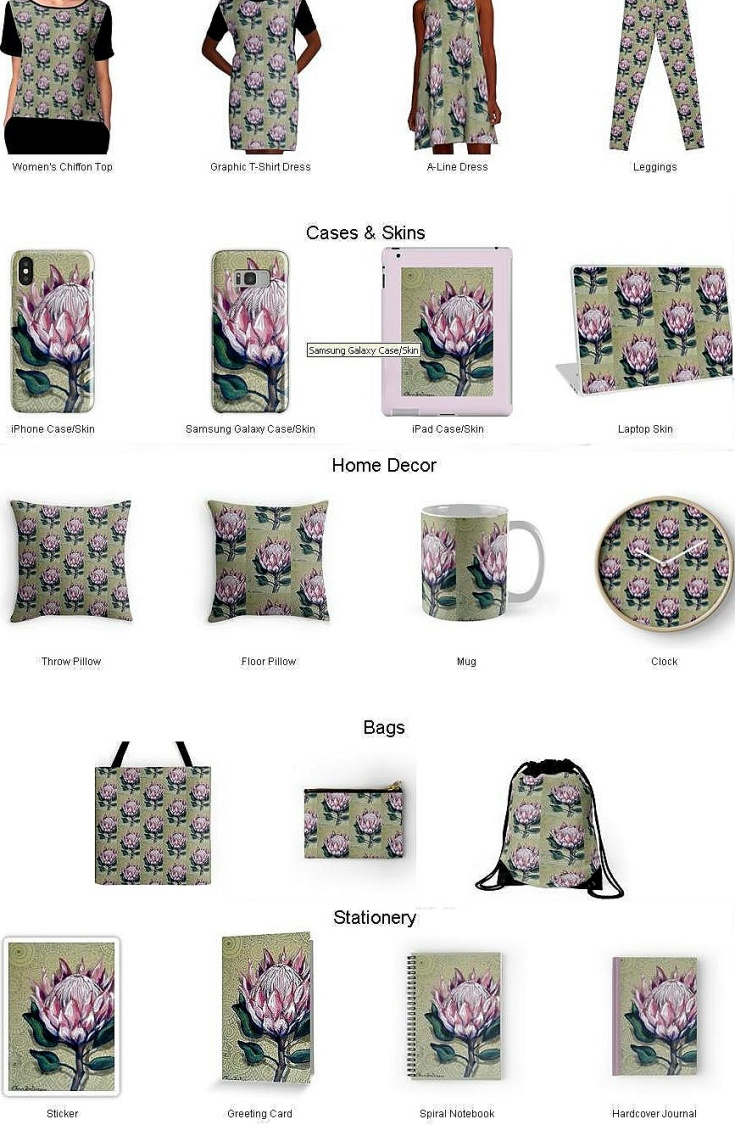 Protea Designer Products by Cherie Roe Dirksen
