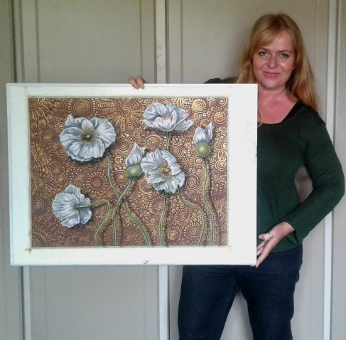 Artist with White Poppies lr
