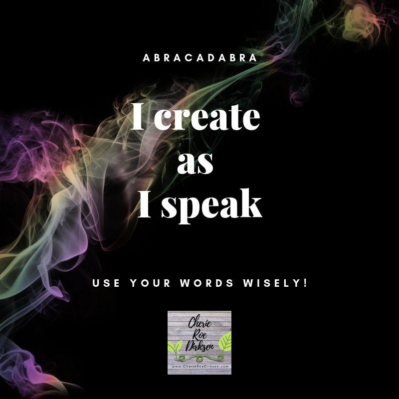 I create as I speak