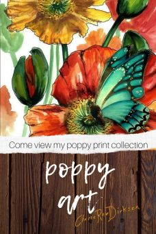 Poppy Art Prints by Cherie Roe Dirksen