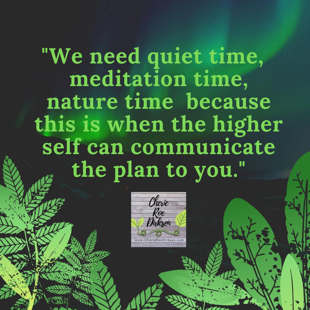 Quiet time quote by cherie roe dirksen